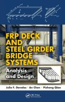 Cover image for FRP deck and steel girder bridge systems : analysis and design