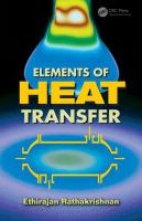 Cover image for Elements of heat transfer