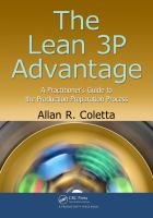 Cover image for The Lean 3P advantage : a practitioner's guide to the production preparation process