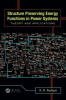Cover image for Structure preserving energy functions in power systems : theory and applications