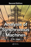 Cover image for Analysis of synchronous machines