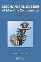 Cover image for Mechanical design of machine components