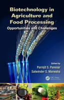 Cover image for Biotechnology in agriculture and food processing : opportunities and challenges /cedited by Paramjit S. Panesar, Satwinder S. Marwaha