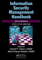 Cover image for Information security management handbook