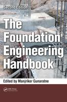 Cover image for The foundation engineering handbook