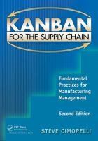 Cover image for Kanban for the supply chain : fundamental practices for manufacturing management
