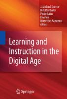 Cover image for Learning and instruction in the digital age