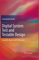 Cover image for Digital system test and testable design : using HDL models and architectures