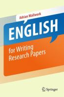 Cover image for English for writing research papers