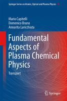 Cover image for Fundamental aspects of plasma chemical physics : transport