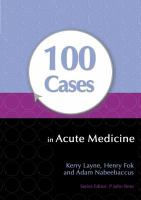 Cover image for 100 cases in acute medicine