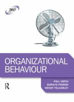 Cover image for Organizational behaviour