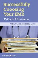 Cover image for Successfully choosing your EHR : 15 crucial decisions