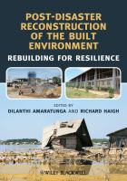 Cover image for Post-disaster reconstruction of the built environment : rebuilding for resilience