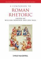 Cover image for A companion to Roman rhetoric