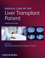 Cover image for Medical care of the liver transplant patient