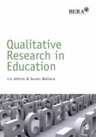 Cover image for Qualitative research in education