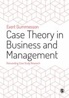 Cover image for Case Theory In Business And Management :bReinventing Case Study Research