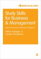Cover image for Study Skills for Business & Management : how to Succeed at University and Beyond