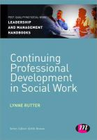 Cover image for Continuing professional development in social work
