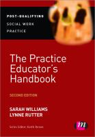 Cover image for The practice educator's handbook