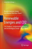 Cover image for Renewable energies and CO2 : cost analysis, environmental impacts and technological trends