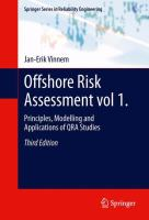 Cover image for Offshore risk assessment. vol 1, Principles, modelling and applications of QRA studies