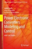Cover image for Power electronic converters modeling and control :  with case studies