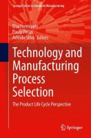 Cover image for Technology and manufacturing process selection : the product life cycle perspective