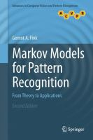 Cover image for Markov models for pattern recognition : from theory to applications