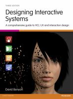 Cover image for Designing interactive systems : a comprehensive guide to HCI, UX and interaction design