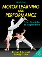 Cover image for Motor learning and performance : from principles to application