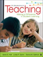 Cover image for Introduction to teaching : making a difference in student learning