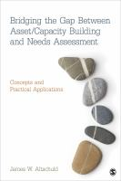 Cover image for Bridging the gap between asset/capacity building and needs assessment : concepts and practical applications