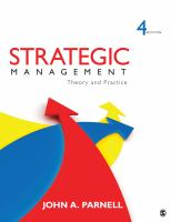 Cover image for Strategic management : theory and practice