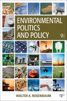 Cover image for Environmental politics and policy