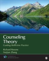 Cover image for Counseling theory : guiding reflective practice