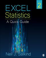 Cover image for Excel statistics : a quick guide