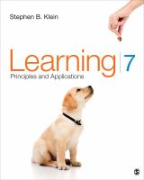 Cover image for Learning : principles and applications