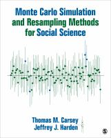 Cover image for Monte Carlo simulation and resampling methods for social  science