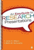 Cover image for An easyguide to research presentation