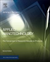 Cover image for Applied nanotechnology :  the conversion of research results to products