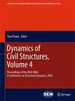 Cover image for Dynamics of civil structures : Proceedings of the 28th IMAC, A Conference on Structural Dynamics, 2010
