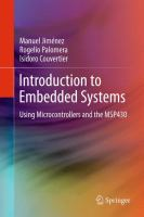 Cover image for Introduction to embedded systems : using microcontrollers and the MSP430