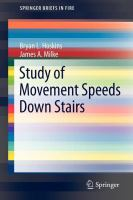 Cover image for Study of movement speeds down stairs