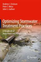 Cover image for Optimizing stormwater treatment practices : a handbook of assessment and maintenance
