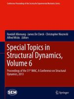 Cover image for Special topics in structural dynamics : proceedings of the 31st IMAC, a conference on structural dynamics, 2013