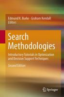 Cover image for Search methodologies : introductory tutorials in optimization and decision support techniques