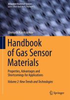 Cover image for Handbook of gas sensor materials : properties, advantages and shortcomings for applications