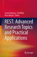Cover image for REST : advanced research topics and practical applications